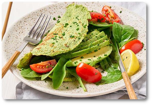 Omelette Proteica agli Spinaci